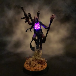 Asurvel Menerrys, LED Harlequin Shadowseer – Chris Buxey Paints