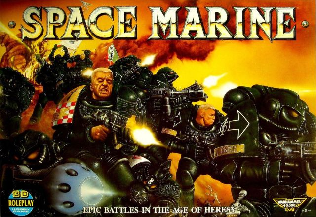 Space Marine box art